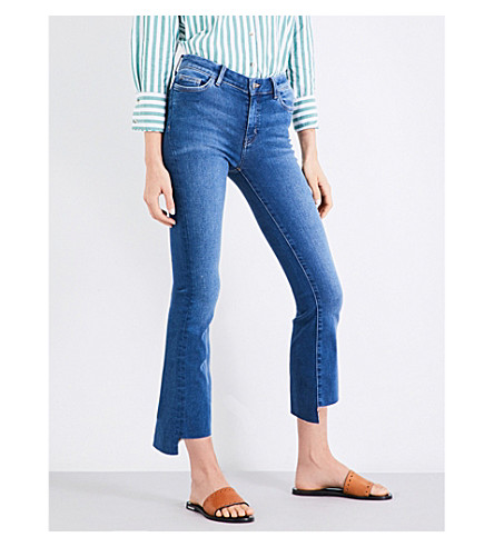 MIH JEANS Marrakesh kick-flare slim-fit mid-rise jeans (Power+vintage+pvi