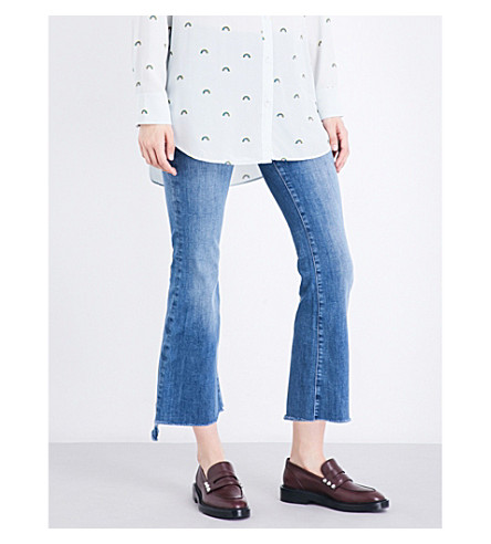 MIH JEANS Stepped-hem slim-fit high-rise jeans (Bee+wash