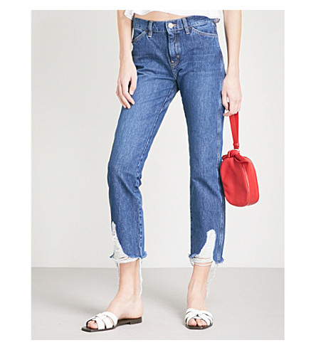 MIH JEANS Cult straight mid-rise jeans (Ladder
