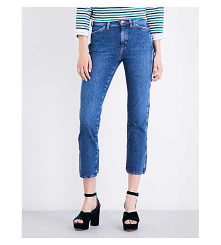 MIH JEANS Cult straight mid-rise jeans (Unwash+unw