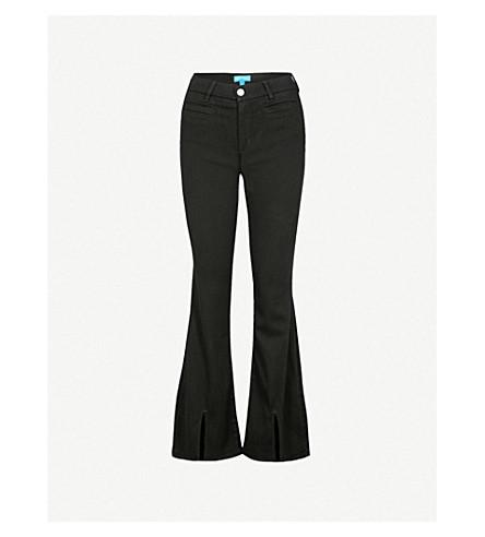 MIH JEANS Marrakesh Sneaker Split high-rise kick-flare jeans (Black