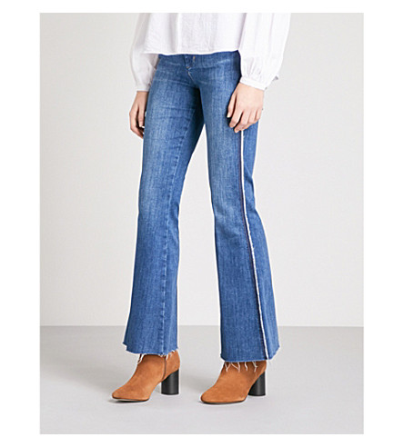 MIH JEANS Marrakesh flared high-rise jeans (Fixie