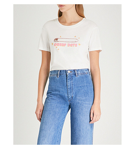 MIH JEANS M.i.h Jeans x Bay Garnett Golborne Road Cheap Date cotton-jersey T-shirt (White
