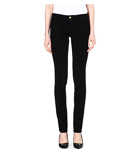 MIH JEANS Oslo slim mid-rise jeans (Black