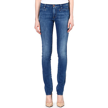 MIH JEANS Oslo slim mid-rise jeans (Sugarblue