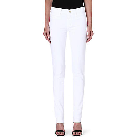 MIH JEANS Oslo slim mid-rise jeans (White