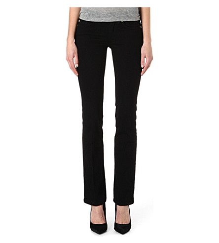 MIH JEANS London bootcut mid-rise jeans (Black