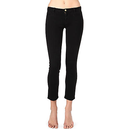 MIH JEANS Paris slim cropped mid-rise jeans (Black