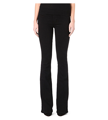 MIH JEANS Marrakesh flared skinny high-rise jeans (Blackest