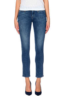 MIH JEANS Paris slim cropped mid-rise jeans