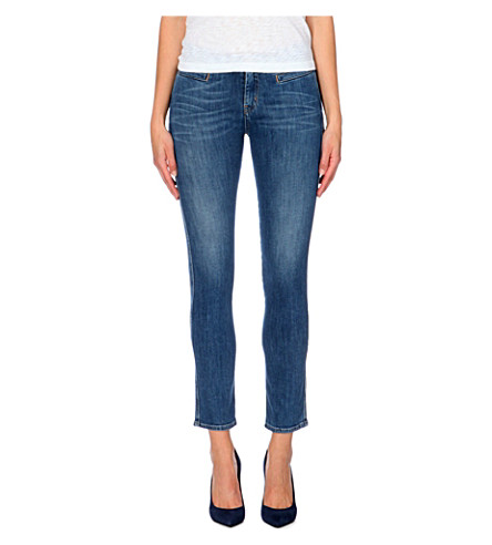 MIH JEANS Paris slim cropped mid-rise jeans (Sugarblue