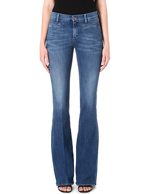 MIH JEANS The Marrakesh kick-flare skinny jeans
