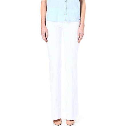MIH JEANS Marrakesh flared skinny high-rise jeans (White