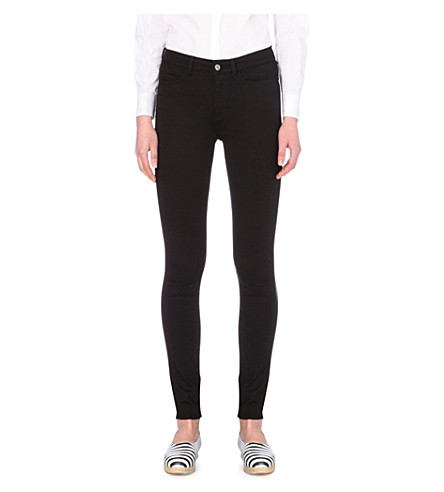 MIH JEANS The Bodycon skinny high-rise jeans (Power+black