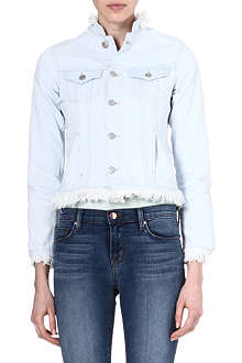MIH JEANS Frayed denim jacket
