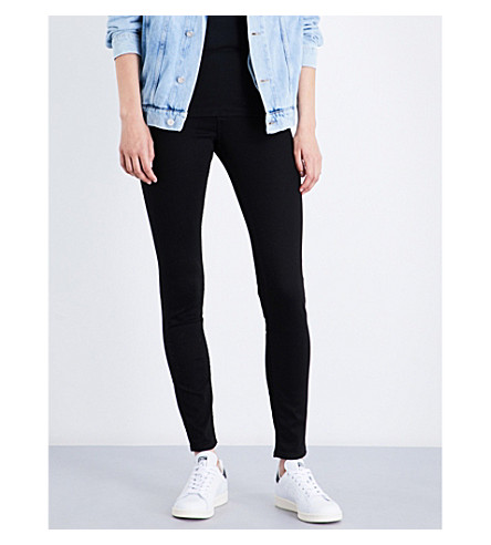 CALVIN KLEIN Sculpted skinny mid-rise jeans (Black