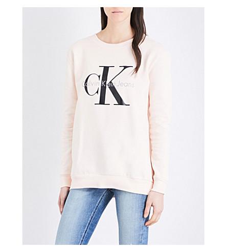 CALVIN KLEIN True Icon cotton-jersey sweatshirt (Pale dogwood