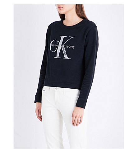 CALVIN KLEIN True Icon cotton-jersey sweatshirt (Black