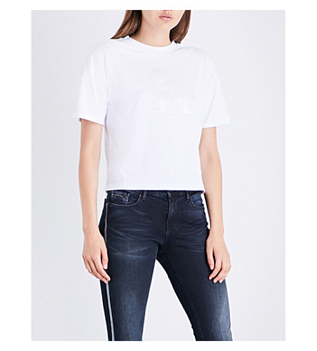CALVIN KLEIN Teco-1 cotton-jersey T-shirt (White