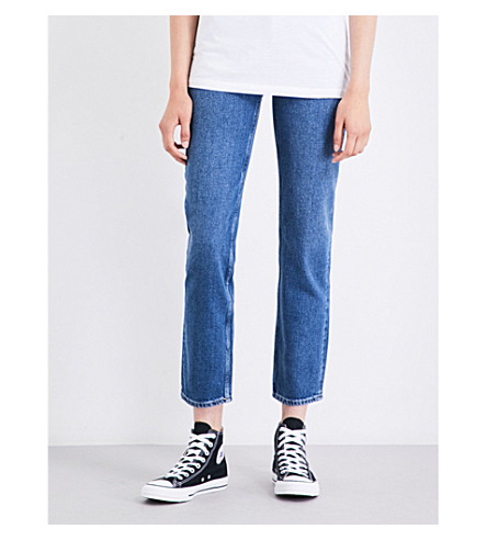 CALVIN KLEIN Straight cropped high-rise jeans (Vintage+mid