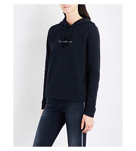 CALVIN KLEIN Honor True Icon cotton-jersey hoody (Ck+black