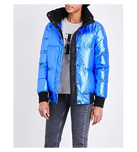 CALVIN KLEIN Ohara metallic puffer jacket (Poseidon+metallic