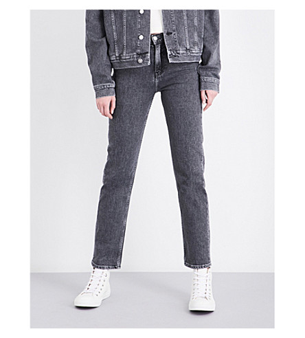 CALVIN KLEIN Straight high-rise jeans (Vintage+black