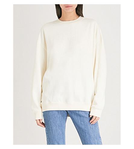 CALVIN KLEIN Hilary cotton-jersey sweatshirt (Egret