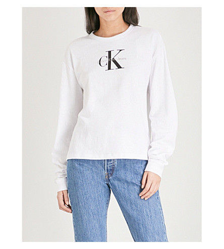 CALVIN KLEIN True Icon cotton-jersey top (Bright+white