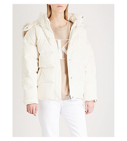CALVIN KLEIN Padded shell jacket (Egret