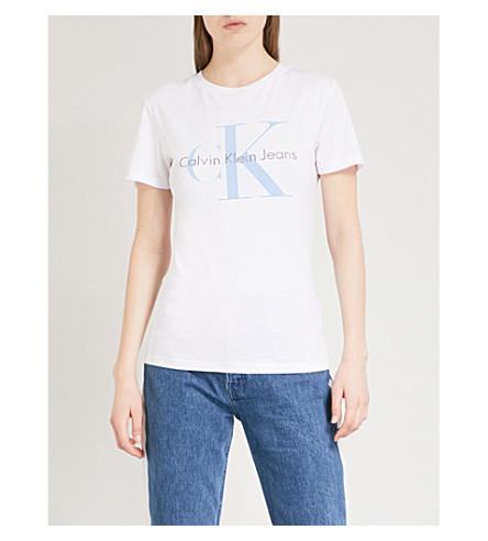 CALVIN KLEIN True Icon cotton-jersey T-shirt (Bright+white