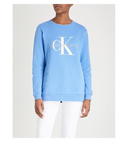 CALVIN KLEIN Logo-print cotton-jersey sweatshirt (Regatta