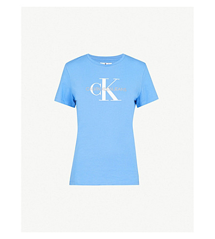 CALVIN KLEIN Regatta cotton-jersey T-shirt (Regatta
