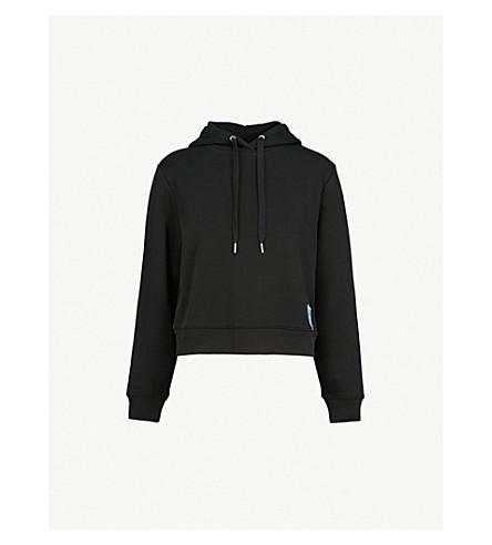 CALVIN KLEIN Logo-patch cotton-blend hoody (Ck+black