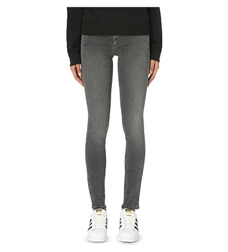 CALVIN KLEIN Skinny mid-rise jeans (New+core+gray+stretch