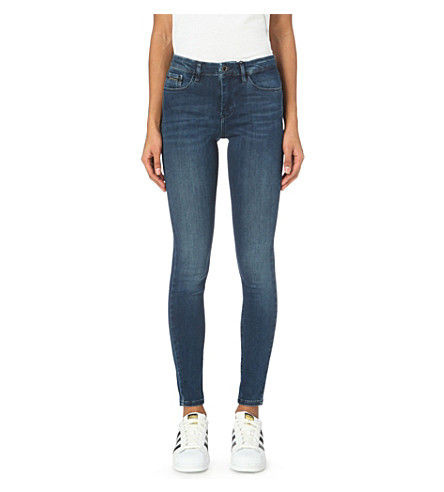 CALVIN KLEIN Skinny high-rise jeans (Crushed+eighties+blue