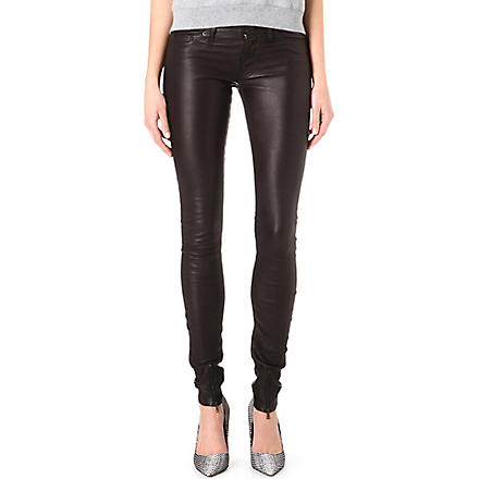 HUDSON JEANS Juliette skinny leather trousers (Black