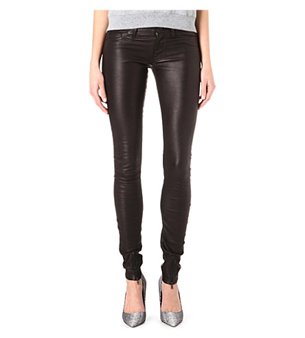 HUDSON JEANS Juliette skinny leather trousers (Black