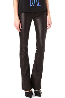 HUDSON JEANS Flared leather trousers