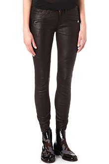 HUDSON JEANS Shelby moto leather trousers