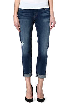 HUDSON JEANS Leigh cropped boyfriend high-rise jeans