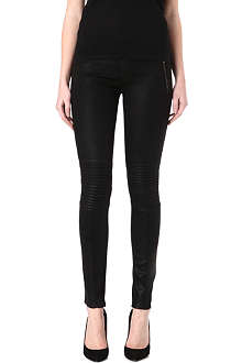 HUDSON JEANS Stark coated skinny mid-rise jeans