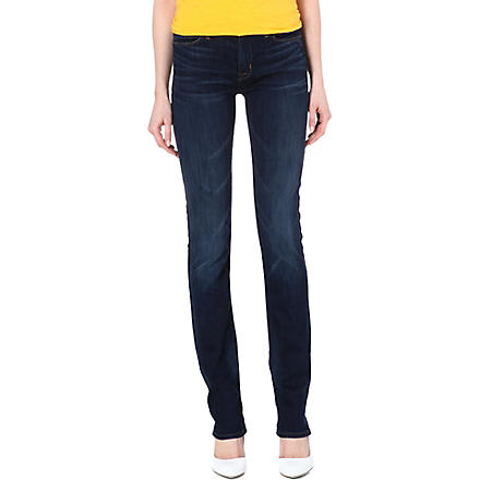 HUDSON JEANS Tilda straight-leg mid-rise jeans (Unplugged