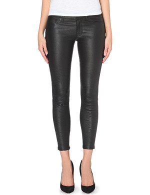 HUDSON JEANS Ava super-skinny mid-rise leather trousers