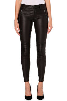HUDSON JEANS Stark Moto leather jeans