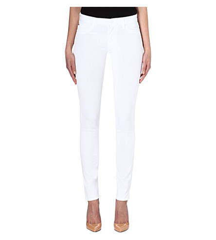 HUDSON JEANS Colette skinny stretch-denim jeans (White