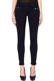 HUDSON JEANS Zipper super-skinny mid-rise jeans