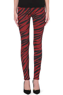 HUDSON JEANS Krista tiger-print super-skinny mid-rise jeans