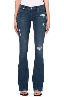 HUDSON JEANS Angel flared stretch-denim jeans