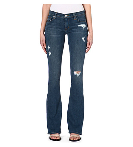 HUDSON JEANS Angel flared stretch-denim jeans (Jane